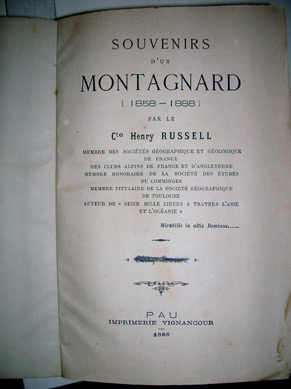 Page de garde de Souvenirs d'un Montagnard