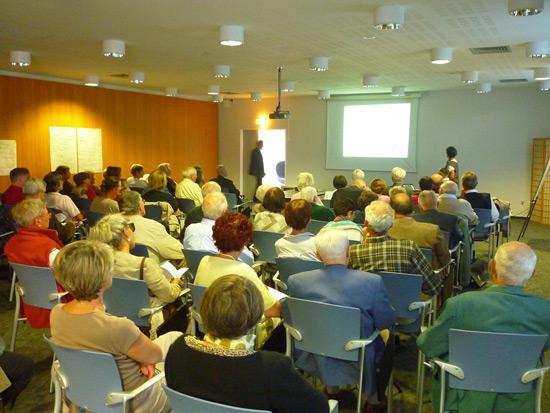 La conférence de Danielle Huc sur les fontaines dans les Pyrénées a également attiré un public nombreux !