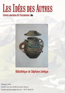 Couverture du catalogue de la bibliothèque de Stéphane Lévêque